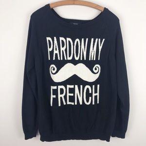 F21 • Pardon My French Sweater